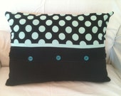 Handcrafted Polka Dot Pillow