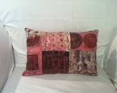 Gorgeous OOAK 12x16 Colorful Patterned Silk Accent Pillow