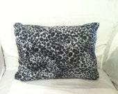 OOAK 12x16  Leopard  Print Fleece Accent Pillow
