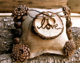 Rustic Wedding Ring Bearer - Burlap Ring Bearer - Wedding Ring Holder