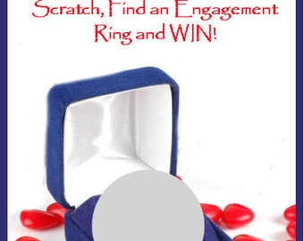 Bridal Shower Find the Engagement Ring Personalized Scratch off game