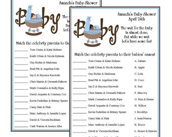Personalized Celebrity Parents Trivia Game   Caucasian Or African American    Set Of 10
