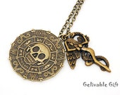 Mature- Evil Carib Pirate Aztec Skull Pendant, naked beautiful angel with snake,Deathly Hallows  NSS01