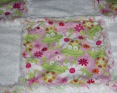 Happy Frogs and Polka Dot rag quilt