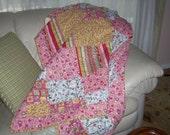Custom Queen Size Pink Quilt