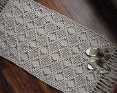 Rectangular crochet rug