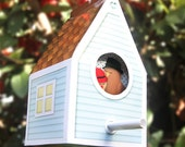Printable Bird House, Lovebirds Gift Box, Wedding Gift, House Warming, Anniversary, Birds in Hats, Paper Craft