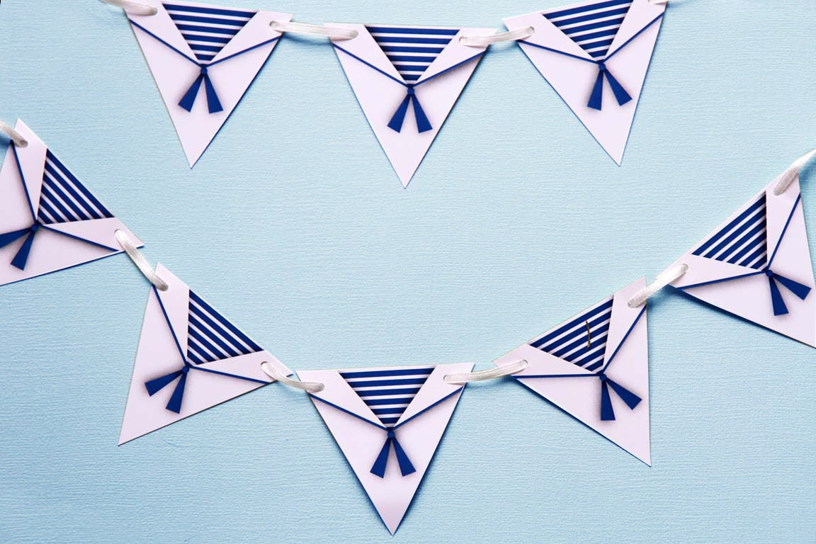 Mini bunting sailor theme nautical theme party for Anchor decoration runescape
