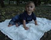 Vanilla Bubble Baby Blanket. Crochet White-OFF Baby Blnket. Fridge Granny Square. Kid Stroller Throw. Christening Baby Gift. Home Decor