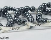 Peace, Joy, Love, Faith Bracelets