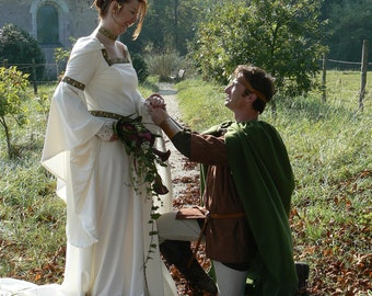 "Wedding dress medieval ""BROCELIANDE"" magical, custom."