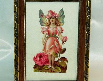 vintage framed print on pure silk