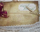 Travel Journal - handmade in the shabby chic vintage style