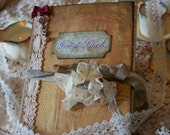 Wedding guest book - handmade in the shabby vintage style