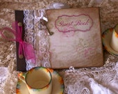 Guest books for wedding - vintage style - custom - 20 pages