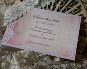 Save the date cards  - From our Vintage Lace Range