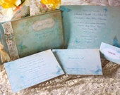 Wedding Invitation & Guest book package - Vintage Butterfly Range