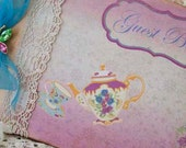 Vintage style Wedding Guest book - from our 'Vintage Tea' range
