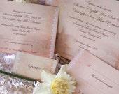 PDF  Wedding Invitation Stationery custom package - Cottage Garden Range