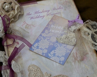 Bride Planner - for the Blushing Bride - shabby chic vintage style - Custom