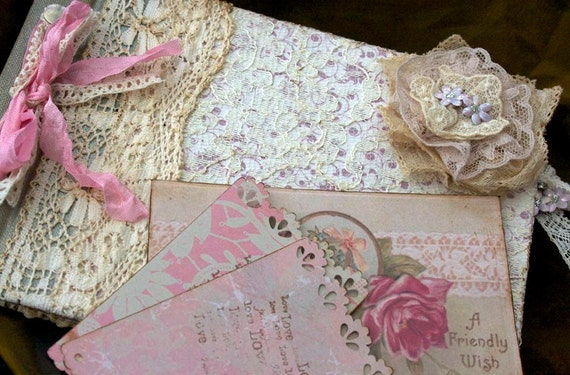 Wedding Guest Book - Old Lace - vintage - custom
