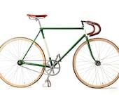 Vintage Track Bike, Freddie Grubb Frame, Italian Wooden Rims