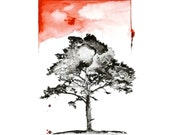 Tree Watercolor Painting Original