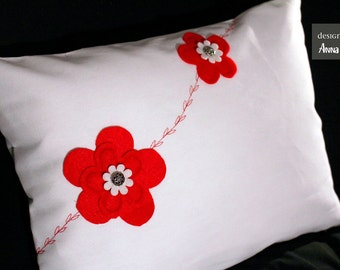 Floating  Flowers Pillow Cover
