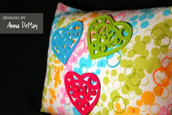 Felt Love Pillow Cover