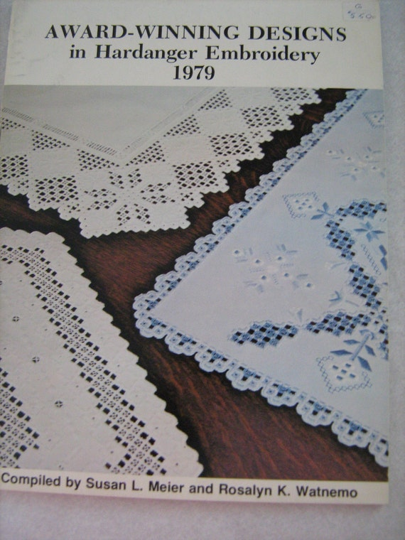Vintage hardanger embroidery pattern book by