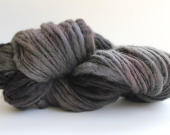 Bark Brown  Color   Hand Spun Hand Dyed  Thick and Thin   Super Chunky  Wool Yarn