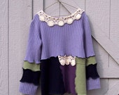 SALE  Refashioned Beautiful Women's Sweater- Size Small - Kat Wise inspired