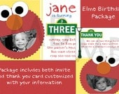 Elmo Birthday Invite/Thank You Card Package - Custom with photo