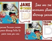 Jake And The Neverland Pirates Birthday Invite/Thank You Card Package - Custom with Photo