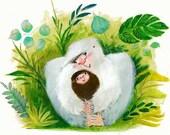 Gorilla Games - Framed illustration Print