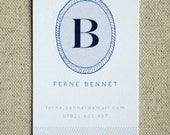 Blues 25 Personalised Monogram Calling Cards
