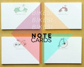 Bikes - 16 Personalised Note Cards