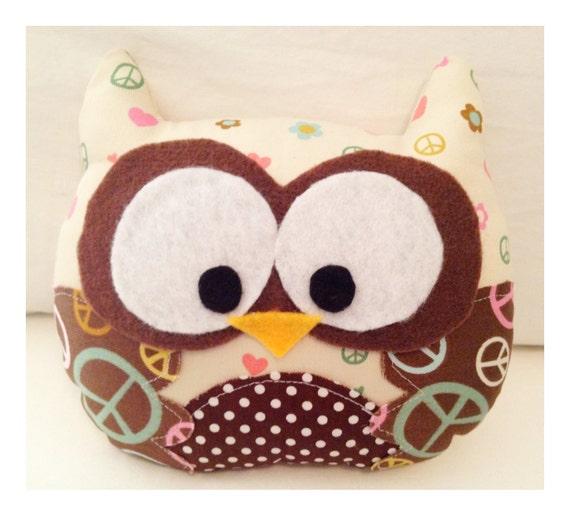 Peace Mini Owl Stuffie