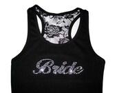 Bride Lace Tank Top, Bride Shirt, Bridesmaid Tank Tops, Bridesmaid Gifts, Bridesmaid Shirts, Bride Gift, Bridal Shower Gift, Wedding Gift