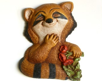 Raccoon Wall Hanging