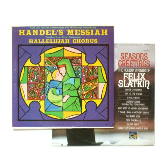 Christmas Vinyl Records - Set of 2