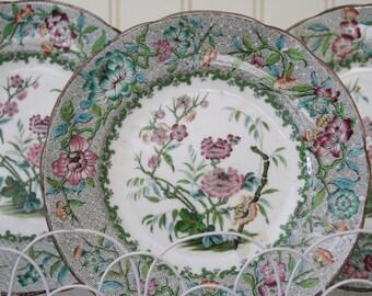 Antique English Ironstone Felspar porcelain large 38 piece floral set. SALE