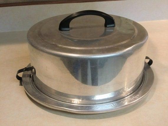 Vintage Metal Cake Carrier