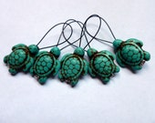 Stitch Marker Set - Sea Turtles Turquoise/Blue - Set of 5