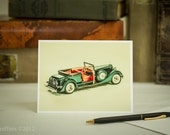 "Greeting Card : '34 Packard Convertible - ""Ask the Man Who Owns One"""