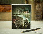"Greeting Card : '32 Cadillac - ""A Man is Known by his Automobile"" No Parking..."