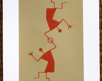 Tribal Acrobats - limited edition screenprint