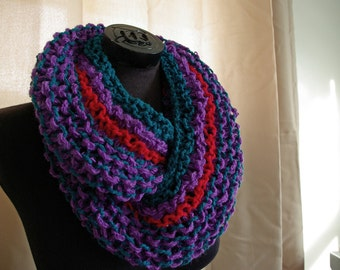 Handmade Knit Cowl - Retro
