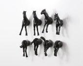 Horses Magnet Set - 8 piece set - black horses or order a larger wedding favor set