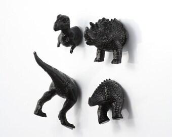 Black dinosaur magnet set - sister in law gift - mother in law gift - lawyer gift - bff gift - gift idea for wife - gay - tyrannosaurus rex